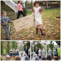This would be great for the grandkids to do for a vow renewal!   The Budget Savvy Bride