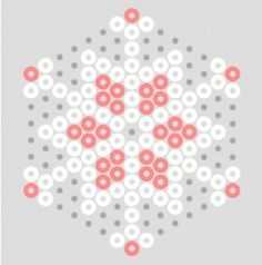 more hama bead snowflake patterns - these with colored bead accents