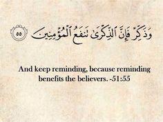Surah Adh-Dhariyat, verse 55