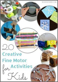 20 Creative Fine Motor Skills Activities for kids title