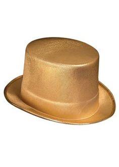 b8325c574b971 Gold Theatrical Top Hat - A Gold Fancy Dress Hat