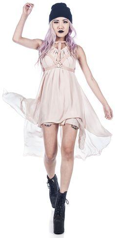 UNIF - Dusty Pink Harness Dress - Dolls Kill - Love this dress in BLACK