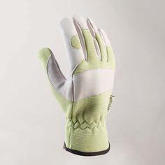 Klassisk handske i följsam spandex och slitstarkt narvskinn