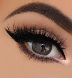 Liner and lashes.