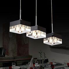 estilo italiano minimalista 3 pingente de luz com sombra transparente – BRL R$ 313,47