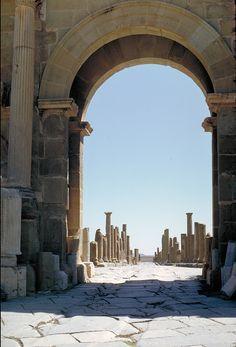 Ruins of roman city of Timgad, Algeria