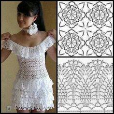 New Woman's Crochet Patterns Part 50 - Beautiful Crochet Patterns and Knitting Patterns Diy Crafts Dress, Diy Crafts Crochet, Black Crochet Dress, Crochet Blouse, Débardeurs Au Crochet, Knitting Patterns, Crochet Patterns, Festival Dress, Irish Lace