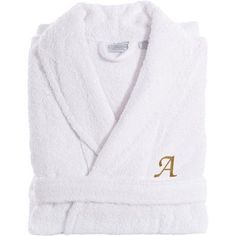Linum Home Textiles Personalized Terry Bathrobe Size: Small/Medium, Color: Gray, Letter: L