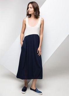 Bicolor long dress