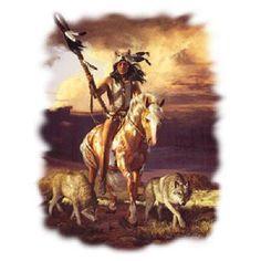 Southwest Indian Wolves T - SHIRT  Item no. 777n by AlwaysInStitchesCo on Etsy