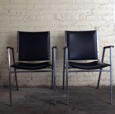 Black Industrial Office Arm Chairs $140 - Chicago http://furnishly.com/catalog/product/view/id/1958/s/black-industrial-office-arm-chairs/