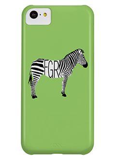 Zebra Monogram iPhone 5c/5s Case