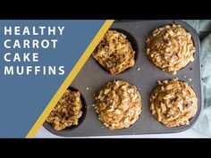Healthy Carrot Cake Muffins- a SUPER simple vegan breakfast that you'll find yourself making over and over again because they're SO GOOD! Healthy Carrot Cakes, Healthy Cake Recipes, Vegan Dessert Recipes, Baby Food Recipes, Snack Recipes, Cooking Recipes, Healthy Foods To Make, Healthy Dishes, Healthy Sweets