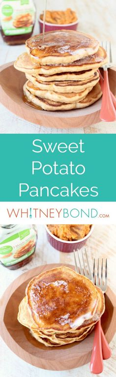 This scrumptious breakfast recipe for Sweet Potato Pancakes makes great use of leftover mashed sweet potatoes!