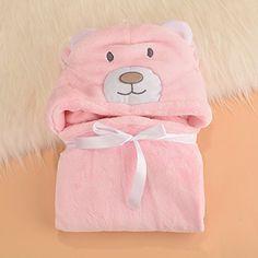 Con capucha toalla de mano bebé el niño Lexi | De tacto agradable Poncho albornoz de microfibra | Café con diseño de bebé toalla de capucha | Divertido toalla de baño con capucha Rosa Bär
