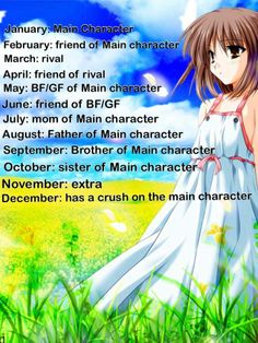 I am the friend of the Main character. What are you guys? Comment Below!