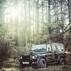 Natural settings.  #TwistedDefender #Natural #Outdoors #LandRover #Offroad #Offroading #LandRoverDefender #AintreeGreen #Defender #Lifestyle #Handcrafted #Customised #Style #Automotive
