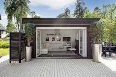 Garden room outdoor Incredible Cozy Outdoor Rooms Design And Decorating Ideas Outdoor garden rooms have existed since the introduction of the garden. In the ordinary house, and its rather easy to find wasted space. Backyard Office, Backyard Studio, Garden Office, Office Pool, Outdoor Garden Rooms, Outdoor Spaces, Outdoor Living, Outdoor Decor, Tiny House