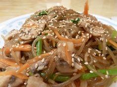 One of my favorites. YUM!  Japchae. =)      http://www.maangchi.com/recipe/japchae