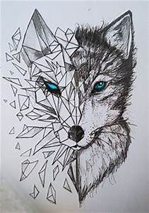 Discover thousands of images about nice Geometric Tattoo - geometric wolf tattoos: Yandex. Wolf Tattoos, Animal Tattoos, Leg Tattoos, Tatoos, Animal Drawings, Cool Drawings, Beautiful Drawings, Sketches Of Animals, Abstract Pencil Drawings