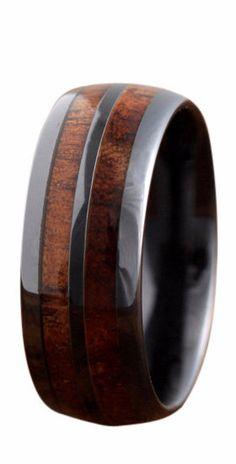 The Barrel Ceramic Koa Wood Ring – NorthernRoyal