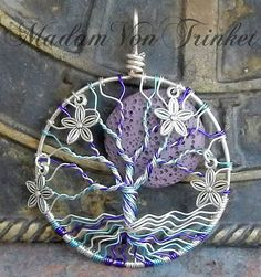 Wire Wrapped Ostara Maypole Spring Tree of Life with Flower Charms