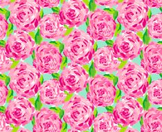 lilly pulitzer floral pink and green print background