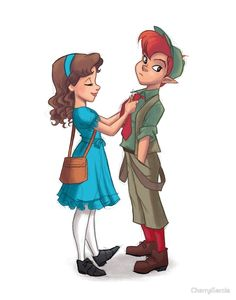 """""""Peter and Wendy"""" by CherryGarcia 