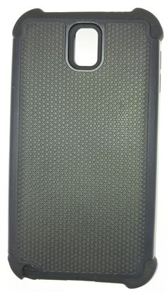 """Samsung Galaxy Note 3 Dual Layered Hybrid Rugged Rubber Hard Case """"Black/Black"""" -- Awesome products selected by Anna Churchill"""