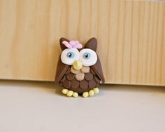 Girly Owl from Whimsical Creations #polymer #clay #etsy