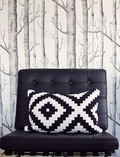 pillow #pattern #livingroom #decor #decoration #design #inspiration #styling #wallpaper #chair