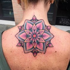 old school mandala tattoo