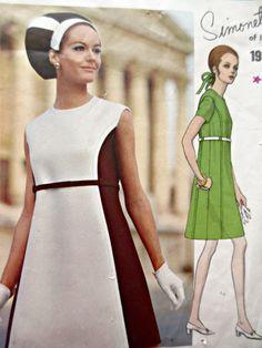 Vintage Vogue 1930 Sewing Pattern, Simonetta Dress Pattern, Vogue Couturier, 1960s Dress Pattern, Bust 38, Mod Dress Pattern, 60s Sewing by sewbettyanddot on Etsy