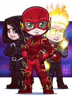 Arrow, the Flash and Firestorm all together to take on reverse flash .