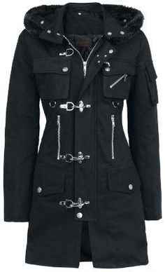Clasp Coat by Queen Of Darkness fashion clothes clothing pretty beautiful goth gothic jacket outerwear