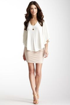 I just got a top like this, and love this way of styling it!