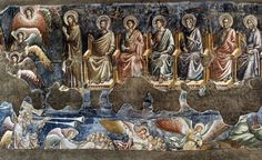 Pietro Cavallini, Last Judgment (fragment), Santa Cecilia in Trastevere, Rome, Tempera, Fresco, Santa Cecilia, Carolingian, Late Middle Ages, Byzantine Art, Italian Painters, Medieval Art, Art History