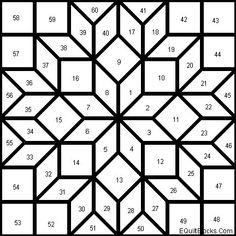 New Patchwork Patterns Stars Design Ideas Barn Quilt Designs, Barn Quilt Patterns, Patchwork Patterns, Pattern Blocks, Quilting Designs, Mosaic Patterns, Quilting Patterns, Quilting Tutorials, Star Quilt Blocks