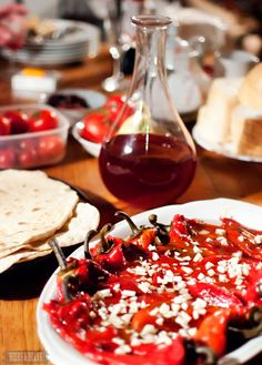 100% organic food and homemade wine on the farm in Serbia. LUV Serbia. :)