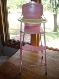 metal vintage doll high chair amsco antique high chairs wooden