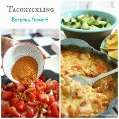 När barnen fick bestämma ett recept till bloggen blev det tacokyckling.   Smidigt och lätt - passar även till pasta     1 st grillad k...