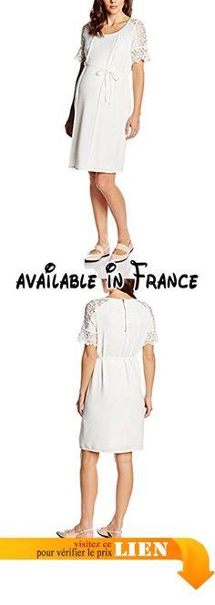B01985X46O : Mamalicious - Blouses - Manches Courtes Femme - Blanc - 38.