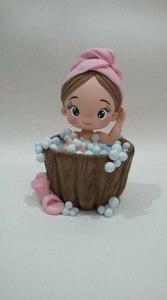 Polymer Clay Dolls, Polymer Clay Crafts, Diy Clay, Fondant Cupcake Toppers, Fondant Baby, Fondant Figures, Clay Figures, Baby Fairy, Cute Clay
