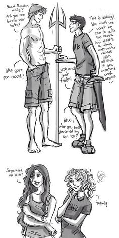 Finnick and Percy, Annie and Annabeth