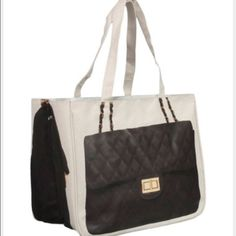 5512900d308 Thursday Friday Chanel style canvas tote new Sold out. Measures 13