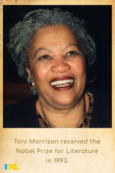 The famous author was born in Lorain, Ohio #OnThisDay in 1931! #TBT #BHM American Symbols, American History, Countries Of Asia, Number Grid, Lorain Ohio, Primary And Secondary Sources, Branches Of Government, Toni Morrison, Declaration Of Independence