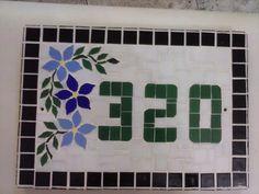 Numero De Casa Em Mosaico - R$ 85,00 no MercadoLivre