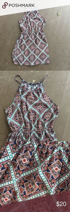 Boho Tribal Sundress Beautiful. Worn a couple of times. In like new condition. Silky material. Fully lined. No trades. Ships within 24 hours Soprano Dresses Mini