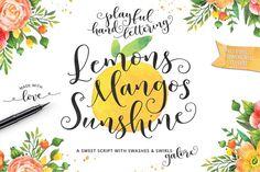 Zitronen Mangos Sunshine Hand beschrifteten Script von EmilySpadoni