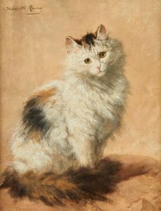 """Le Regard Persan"" -- by Henriette Ronner-Knip (Dutch, 1821–1909)"